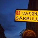 ブラショフのレストラン。イタリア語みたい!