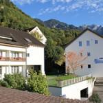 山に囲まれた小さなホテル。(リヒテンシュタイン)
