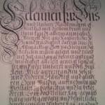 エントランスの壁に掛けてあった美しい文字の額ふたつ。(リヒテンシュタイン)