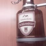 オーストリアの古城レストランに飾っていたアンティークなビール瓶。(オーストリア)
